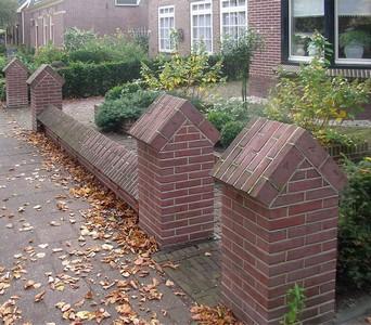 Stenen muur voortuin - Steen en constructie ...